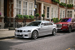 DSC_0525 (Merzdoms) Tags: unitedkingdom britain london streetparked england bmw e46 m3
