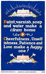 """Home Influence"" - The Hope of a Nation Poster Series, Works Progress Administration, 1937 (gameraboy) Tags: thehopeofanation poster worksprogressadministration 1937 wpa 1930s design art illustration propaganda posterart homeinfluence cheerfulness"