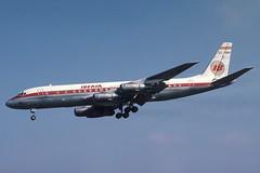 EC-BMV Heathrow 16-4-1979 (Plane Buddy) Tags: ecbmv douglas dc8 iberia lhr heathrow