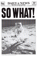 So What! by Robert Cenedella, 1970 (gameraboy) Tags: sowhat robertcenedella 1970 1970s apollo11 moonlanding moon vintage nasa poster posterart