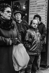 DSC_7459_epgs (Eric.Parker) Tags: april 19 easter 2019 goodfriday procession littleitaly stfrancis assisi church stfrancisofassisi college street jesus christ stationsofthecross christian christianity brassband toronto palm bw