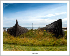 Two Upturned Hulls, Lindisfarne (flatfoot471) Tags: 2008 normal england unitedkingdom holiday northumberland august lindisfarne coast beach northsea holyisland farneislands summer boats holyisle