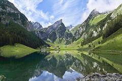 The glorious Seealpsee (Karl Le Gros) Tags: 2019 alpstein appenzell lake panorama seealpsee swissalps switzerland säntis xaviervonerlach landscape kantonappenzell seealp horst steckenberg oberstofel