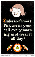 """Cheerfulness"" - The Hope of a Nation Poster Series, Works Progress Administration, 1937 (gameraboy) Tags: thehopeofanation poster worksprogressadministration 1937 wpa 1930s design art illustration propaganda posterart cheerful smile flower"