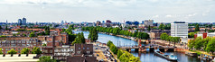 View from Amsteldok (EmreKanik) Tags: holland citylife netherlands bridge river water boat cityscape panorama europe amsterdam amstel northholland