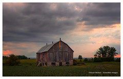 Evening Barn (Stu Starwalker) Tags: barn evening clouds farm ontario canada landscape sunset