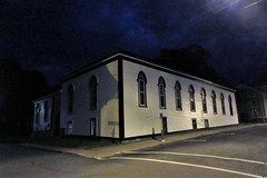 St. John's Parish Hall, night on Cornwallis Street, Lunenburg, Nova Scotia (Paul McClure DC) Tags: lunenburg novascotia canada maritimes june2018 architecture historic