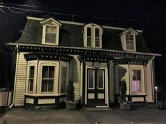 House with bay windows and dormers, Pelham Street at night, Lunenburg, Nova Scotia (Paul McClure DC) Tags: lunenburg novascotia canada maritimes june2018 architecture historic