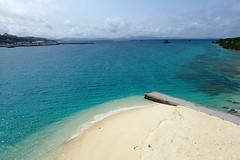En quittant l'île de Sesoko (8pl) Tags: plage eau mer sesoko okinawa japon sablefin eaubleue paysage nature panorama jetée bleu turquoise couleurs
