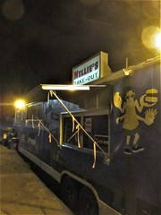 Food truck at night, Nellie's Take-Out, Lunenburg, Nova Scotia (Paul McClure DC) Tags: lunenburg novascotia canada maritimes june2018 architecture historic vintage restaurant