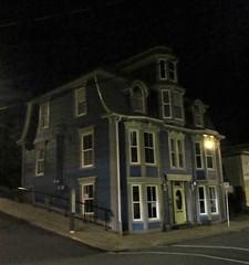 Grand house with bays and turret, night on Montague Street, Lunenburg, Nova Scotia (Paul McClure DC) Tags: lunenburg novascotia canada maritimes june2018 architecture historic