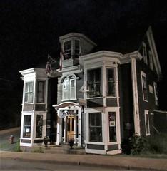 S.A. Ernst, Lincoln Street at night, Lunenburg, Nova Scotia (Paul McClure DC) Tags: lunenburg novascotia canada maritimes june2018 architecture historic