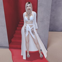 Look 164 (Hypnotic Fashion Blog) Tags: bishesinc doux treschic vegastattoo tattoo blond vexiin scandalize dress outfit look avatar blog blogger fashion secondlife sl lookoftheday outfitoftheday hot sexy face emotion shoes heels jewelery choker backdrop
