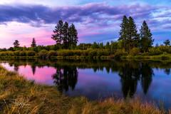 Deschutes Summer Sunset II (TierraCosmos) Tags: river sunset summer reflection deschutesriver deschutesrivertrail bend oregon centraloregon colorfulsky scenic bestshotoftheday clouds landscape