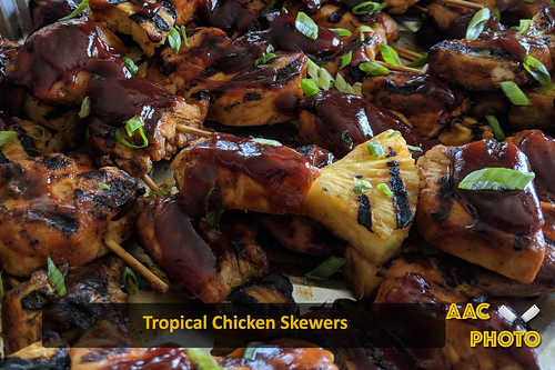 """Tropical CHicken Skewers • <a style=""""font-size:0.8em;"""" href=""""http://www.flickr.com/photos/159796538@N03/48602643957/"""" target=""""_blank"""">View on Flickr</a>"""