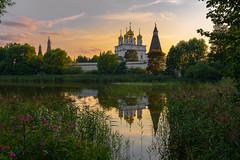 Teryaevo (gubanov77) Tags: orthodox russia teryaevo church monastery temple landscape dusk sunset village evening water reflection summer summertime goldenhour