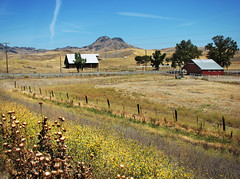 Settlement (skipmoore) Tags: ranch barn fence sutterbuttes colusacounty