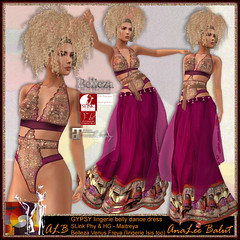 FREE in August - ALB GYPSY lingerie belly dance dress (AnaLee Balut) Tags: analeebalut slink maitreya belleza shushu mesh hourglass classic shoes boots lingerie dress gown secondlife sl gift free dollarbie albdreamfashion alb shushucongrejo fashion design extraordinary