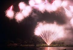 Kappe festival (threepinner) Tags: fireworks kitamura iwamizawa hokkaidou hokkaido northern japan festival summer canon av1 negative iso 100 self developed reversal negaposi development 北村 田舎フェスティバル 北海道 f18 nfd
