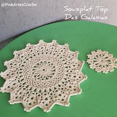 Sousplat Top Das Galáxias - Pink Artes Croche by Rosana Recchia (by Rosana Recchia) Tags: mesaposta mesadecorada sousplatcroche sousplat diycroche diy crochê crochet crocheting semprecirculo