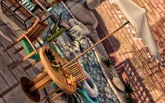 @Chez Moi (Sweet Fashion Girl and Boy) Tags: decoration set chezmoi carolina wooden patio fruits sayo viva lounge plantains