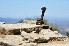 Knapp's Castle (9) (Ian E. Abbott) Tags: knappscastle mansion ruins masonry stone brick southerncalifornia santabarbara socal bolt nut hardware foundation