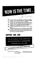 Call for civil rights demonstration in Washington: 1948 (Washington Area Spark) Tags: civil rights legislation poll tax lynching fair employment practices commission fepc segregation integration armed forces paul robeson w e b dubois washington dc district columbia demonstration protest lobby march 1948