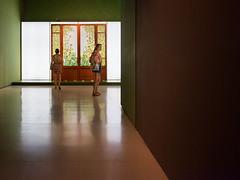 hacia otra dimension (lospollos1) Tags: streetphotography street museo barcelona door girl