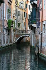 Ahhh, Venezia... (AHeinbockel) Tags: venice venezia italy italia canal bridge brick balcony hanging plants beautiful picturesque