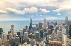 34 of 52:  On The Horizon (SoCal Mark) Tags: chicago signature lounge 95 floors 95th lake michigan city scape skyscraper illinois photo weekly challenge 34 mark alders august 2019 chi town chitow chitown second improv midwest mid west landcape
