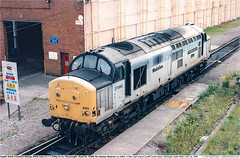 37890GB_CardiffCanton_010699 (Catcliffe Demon) Tags: railways railroading uk class37 eetype3 ews englishwelshscottishrailway englishelectric vulcanfoundry coco diesellocomotive mainlinefreight rosters ukrailimages1999 southwales glamorgan centreheadcode