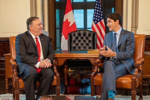 Secretary Pompeo Meets With Canadian Prime Minister Trudeau