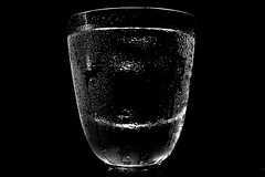 dewdrops on a glass (avawoodworth) Tags: blackandwhite bw blackwhite glass water dew augsut 2019 monochrome mono