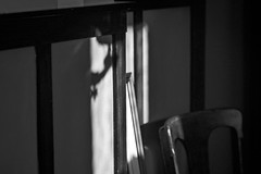 dining room detail, deep shadows, Beech Street, Rockland, Maine, Nikon D3300, nikon AF nikkor 70-300mm, 8.22.19 (steve aimone) Tags: diningroom details architecture interior chair beechstreet rockland maine nikond3300 nikonafnikkor70300mmf456 blackandwhite monochrome monochromatic