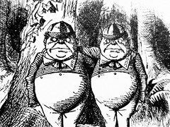 Tweedledee and Tweedledum - Alices Adventures in Wonderland 8535 (Brechtbug) Tags: tweedledee tweedledum from pen name lewis carrolls alices adventures wonderland 1865 through lookingglass what alice found there 1871 illustration by sir john tenniel english illustrator graphic humorist political cartoonist prominent second half 19th century british humor story surreal scenes written charles lutwidge dodgson fantasy mad