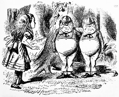 Tweedledee and Tweedledum - Alices Adventures in Wonderland 8534 (Brechtbug) Tags: tweedledee tweedledum from pen name lewis carrolls alices adventures wonderland 1865 through lookingglass what alice found there 1871 illustration by sir john tenniel english illustrator graphic humorist political cartoonist prominent second half 19th century british humor story surreal scenes written charles lutwidge dodgson fantasy mad