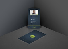 Creative Business Cards (Mohammed.Bakkar) Tags: business businesscard branding brand creative smart promotion profile printed corporate photoshop photograpgher photography graphic psd silver green oilgreen vertical layout design modern golden designspace white coach natasha