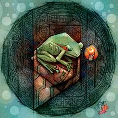 The Pondering Frog in the Well (hinxlinx) Tags: dailyart illustration pendrawing creatureart animalart frogart amphibian frog ponder 井底之蛙 蛙 hinxlinx ericlynxlin elynx 軒 instaart artofinstagram