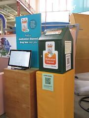 Medication Disposal Display (TheTransitCamera) Tags: medicationdisposal collection point box contain drugs minnesota mnstatefair2019 fair fairgrounds statefair