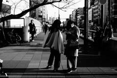 Joy of life (ademilo) Tags: street streetphotography streetlight people road tokyo japan city cityscape citylife light lights sunlight sunshine woman asia asian pedestrians pedestrian pavement passer monochrome blackandwhite abstract