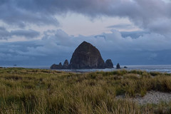(The Haystack Rock) Cannon Beach (SonjaPetersonPh♡tography) Tags: oregon oregoncoast nikon nikond5300 afsdxnikkor18300mmf3563gedvr stateoforegon unitedstates cannonbeach thehaystackrock haystackrock beach sand waves ocean pacificocean scenic scenery oceanside coast coastal nature sky clouds viewpoints viewpoint