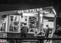 night ice cream-7513 (BillRhodesPhoto) Tags: billrhodes asheville nc blackandwhite monochrome night