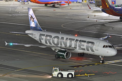 N205FR (Rich Snyder--Jetarazzi Photography) Tags: frontierairlines frontierflight fft f9 airbus a320 a320200 a320214 n205fr ozzytheorca departure sanfranciscointernationalairport sfo ksfo millbrae california ca airplane airliner aircraft jet plane jetliner ramprowera rcta atower dark night lights