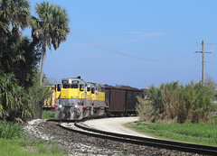 506, Bryant FL, 4 March 2019 (Mr Joseph Bloggs) Tags: train treno bahn railway railroad zug vlak freight cargo ussc sugar corporation scfe south central florida express emd gp402 gp40 electro motive division clewiston bryant merci america united states 506 501 sugarcane