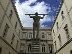 L'uomo che misura le nuvole (magellano) Tags: uomo man misura measure nuvola cloud scultura sculpture jan fabre museo museum madre napoli naples italia italy