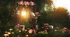 Once upon a time (Alexa Maravilla/Spunknbrains) Tags: foxwood kustom9 ariskea littlebranch alirium secondlife digitalphotography digital art 3dmesh virtualworld fantasy outdoors mushrooms