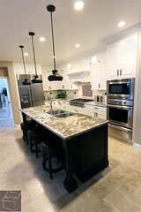 Traditional Kitchen remodel with custom white cabinets, dark cabinetry island and granite countertops in Irvine, Orange County https://www.aplushomeimprovements.com/portfolio_page/orange-county-irvine-complete-kitchen-bathroom-remodel-project70/ (Aplus Interior Design & Remodeling) Tags: kitchenremodel kitchen kitchenrenovation kitchencabinets kitchenandbath orangecounty oc contracting california contractors cabinets countertop custommillwork custom remodel remodeling renovation residence