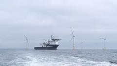 M2032027 E-M1ii 40mm iso200 f8 1_500s 0 (Mel Stephens) Tags: 20190803 201908 2019 q3 16x9 wide widescreen olympus mzuiko mft microfourthirds m43 40150mm omd em1ii ii mirrorless gps uk scotland aberdeen coast coastal transport boat ship wind turbine turbines sctructure