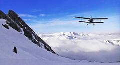 FRANCE - Pyrénées - Ossau region (Jacques Rollet (Little Available)) Tags: plane montagne mountain snow neige groupenuagesetciel