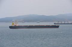(Sam Tait) Tags: gibraltar uk united kingdom europa point coast boat cargo ship